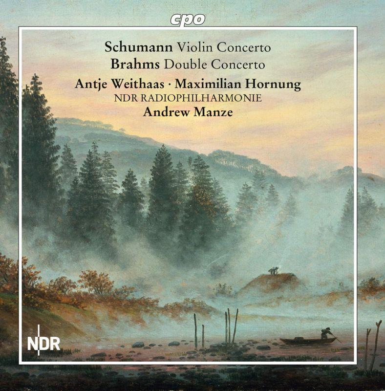 Review of BRAHMS Double Concerto SCHUMANN Violin Concerto (Manze)