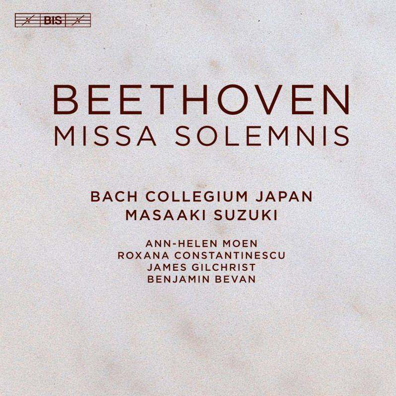 BIS2321. BEETHOVEN Missa Solemnis (Suzuki)