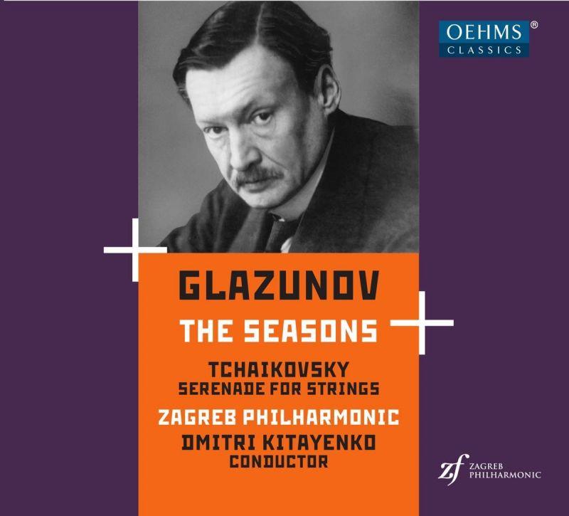 OC1889. GLAZUNOV The Seasons TCHAIKOVSKY Serenade (Kitayenko)