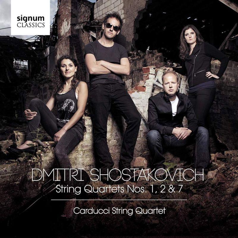 Review of SHOSTAKOVICH String Quartets Nos 1, 2 & 7 (Carducci Quartet)